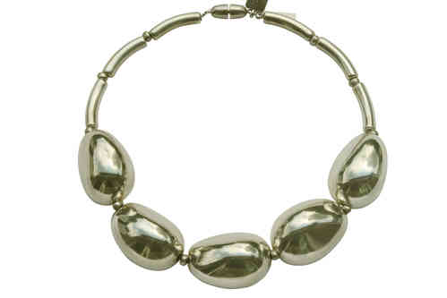 necklace with silver olives 33x47mm